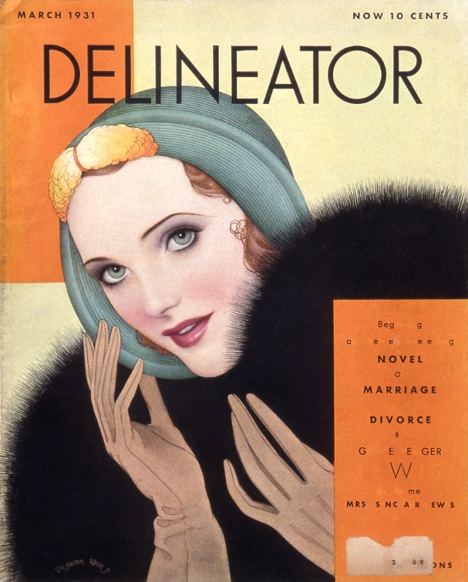 Magazine cover showing ideal beauty. 1931