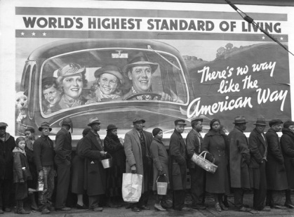 Unemployment line during the Great Depression