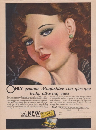 Maybelline advert 1932