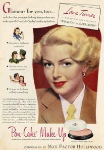 Lana Turner Max Factor Ad
