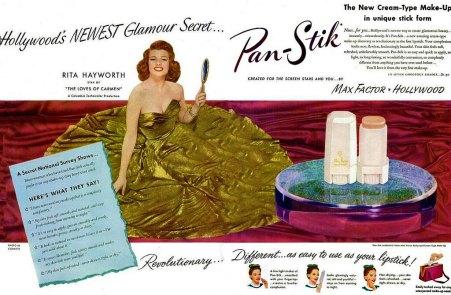 Rita Hayworth Max Factor Ad